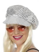 Silver Sequin Disco Hat